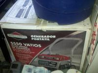 "NEW in box"" portable generator Powered by a Briggs &"