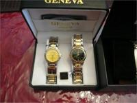"VERY NICE, NEW ""GENEVA"" HIS AND HERS WATCH SET BOTH"