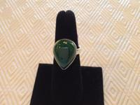 This new genuine Malachite ring is set in sterling