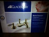 "Glacier Bay Bath Faucet, NEW IN BOX, 8"" Widespread,"