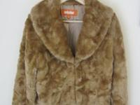 New Gold Brown Mink Faux Fur Jacket Coat Shrug perfect