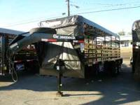 This is a new, Gooseneck brand, steel stock trailer,