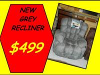 NEW gray Recliner chair for $499.   FOUND IN OUR NEW