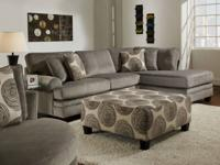New large Groovy Gray padded velvet sectional with