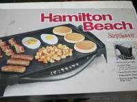 For sale New In Box Hamilton Beach Elecrtric Griddle