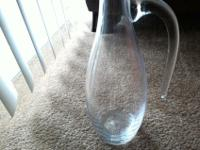 Beautiful Handmade blown glass crystal pitcher. Nice