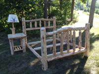 For Sale: New pine hand-crafted log bedroom sets. The
