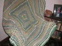 Stunning Handmade Hand Crochet Afghan Style Blanket in