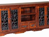 BRAND NEW handmade TV console in solid sheesham wood,
