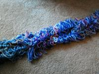New Handmade infinity scarf. Multi Colored yarn.