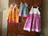 New handmade little girls dresses, shaky pants, or