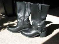 ladies harley davidson boots black with rinestone bling