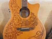 New Luna Henna Haven Acoustic/Electic Guitar for ONLY