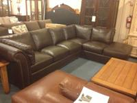 High-End Top Grain leather sectional. Made in NC.