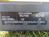 V-5 Hitch 5000 lb. rating 2 inch receiver 34 inch