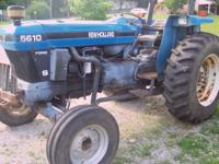 We have a nice ford tractor that looks and runs good.