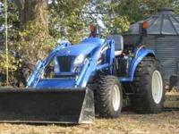 It is a New Holland TC45DA is has approx. 150 hours on