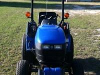 TC-18 New Holland tractor. Diesel 18.5 HP. 229 hours.