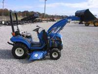 TC 18 DA NEW HOLLAND TRACTOR WITH 10LA Quick Release