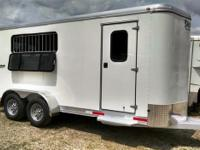 Check out this 2015 3 horse slant load bumper pull 6