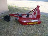 New Howse 5 foot rough cut mower for sale. $850.00.