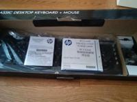 HP keyboard mouse bundle Never used, plastic bag wrap