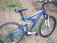 NEW HUFFY MOUNTAIN BIKE 26 INCH 21 SPEED BLUE DS-3 $