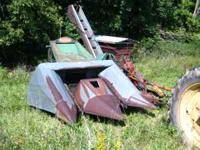 New Idea two row pull type corn picker for sale. Model