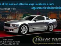 AVALOS WINDOW TINT has been tinting automobile, truck,