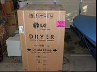 New LG electric white dryer, model # DLE4870W, bought