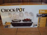 "New in box ""Crockpot"" Duo Cook & Serve Buffet Server."