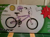 "Razor ""Starlight"" 20"" Girls Bike and Helmet Included"