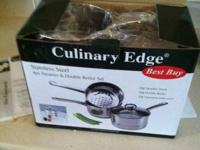 I am offering 2 New in Box 4 piece sauce pan Steamer