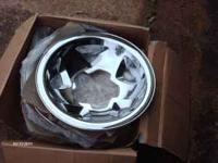 brand new in the box set of chrome hubcaps to fit Geo