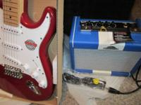Brand New Indy Guitar and Sundown Amp with tremolo bar,