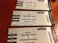 Three NHL game tickets, March 17, 2015. Prudential