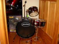This is a brand new Pulse junior drum set.It comes
