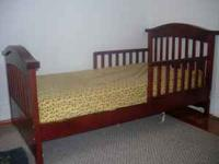 New Kids Wood Bed with mattress Text or call  Location: