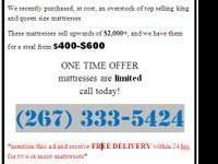 Brand New Simmons Beautyrest King Mattress with split