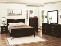 New! King Sleigh Bed, Dresser, Mirror and Night