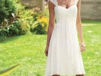 Brand New wedding Dress. Knee length, empire waist, and