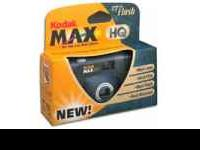 Kodak MAX HQ one-time-use Flash Camera. This is a