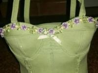 L@@K! ADORABLE  Mint Green Corset Bustier Handbag