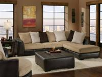"New ""Martin"" L-Shaped sectional in a velvet cord fabric"