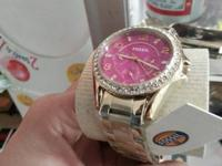 New and still have the tags. Ladies Fossil Watches.