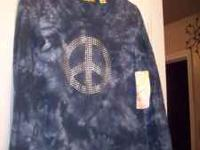 New Peace Shirt Long Sleeves Size Medium Brand: