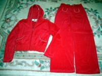 Moving Special! NEW Never Worn Red Velour Jacket &