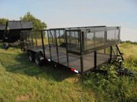 New Landscape designed 18x83 trailer by Cross, tandem
