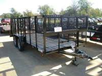 "This is a new 83"" x 16' landscape trailer with 2 -"