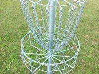 Large Galvanized Frisbee Disc Golf steel basket. Very